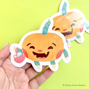 Peppie the Pumpkin - Handmade Vinyl Sticker