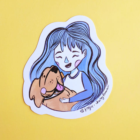 Dog Lover - Handmade Vinyl Sticker
