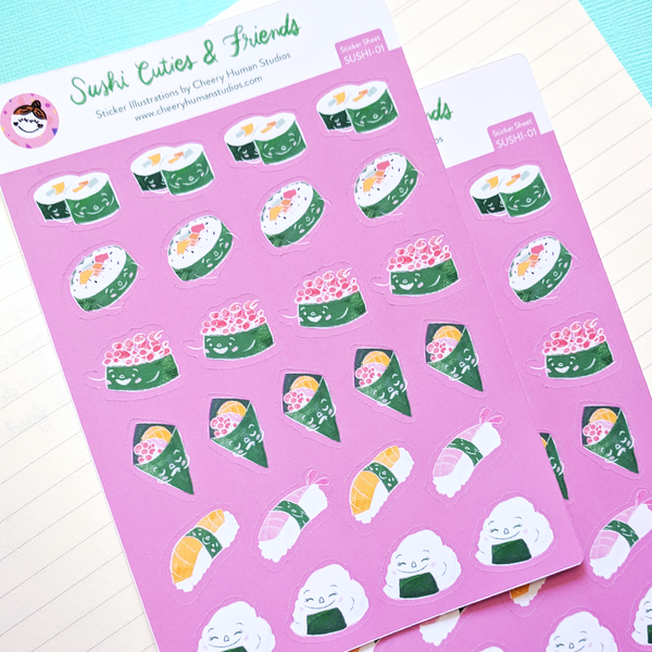 Sushi Cuties and Friends - Sticker Sheet