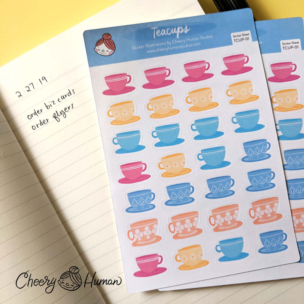 Teacups - Sticker Sheet