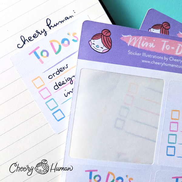 Mini To-Do List - Stickers | Single Sticker Sheet or Pack of 5