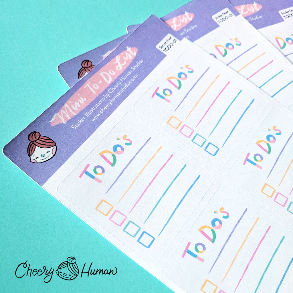 Mini To-Do List - Sticker Sheet