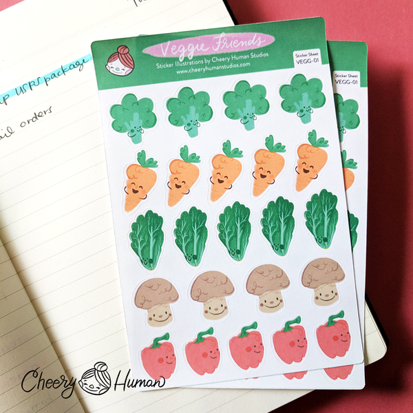Veggie Friends - Sticker Sheet