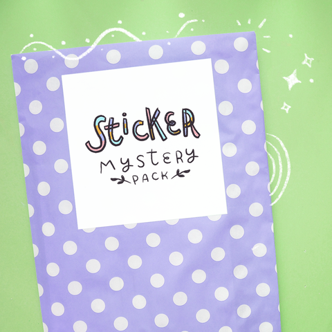 Sticker Mystery Pack - 8+ Mystery Sticker Items Per Pack