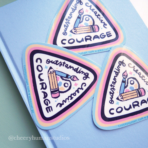 Creative Courage Badge - Handmade Vinyl Sticker