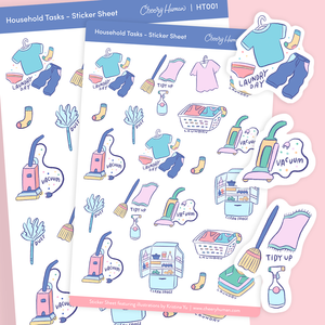 Household Tasks - Stickers | Single Sticker Sheet or Pack of 5