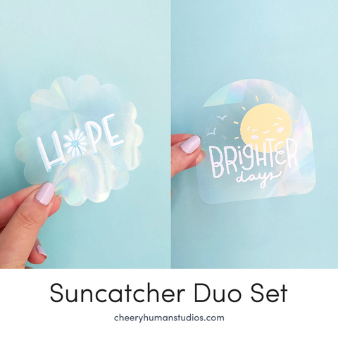 Brighter Days & Hope - Rainbow Suncatcher Set