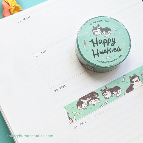 Happy Husky - Washi Tape