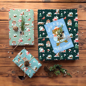 Winter Forest Holiday Wrapping Paper - Folded Flat Pack