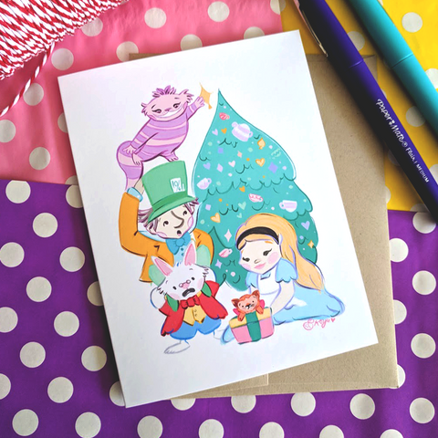 Wonderland Holiday - Greeting Card