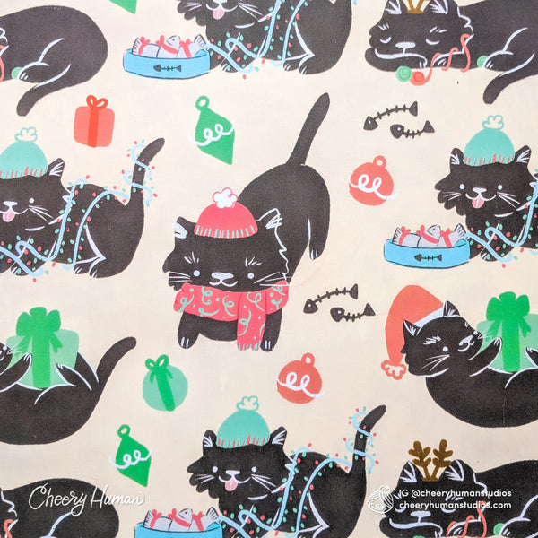 Winter Cats Wrapping Paper - Folded Flat Pack