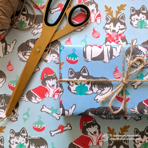 Huskies Wrapping Paper