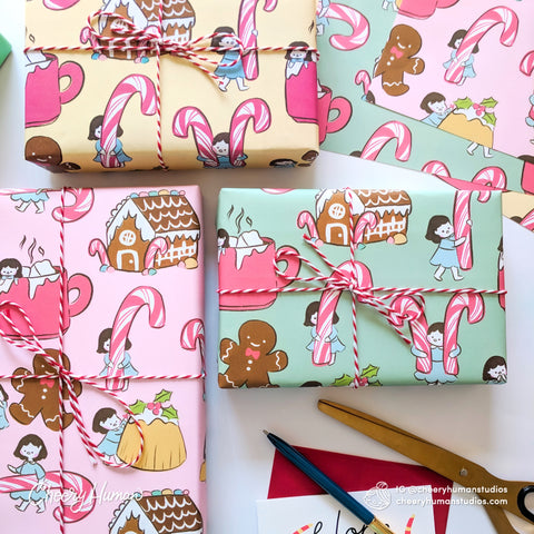 Holiday Treats Wrapping Paper - Folded Flat Pack