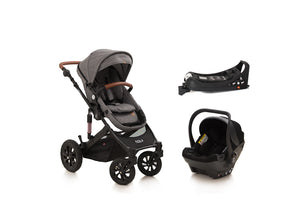 The Elite 5in1 Travel System with NEW iSize Car Seat & ISOFIX & ONE360º | Lunar Grey 2019 MODEL