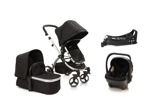 The Bug 4in1 Travel System with ISOFIX BASE | Midnight Black 2020 MODEL
