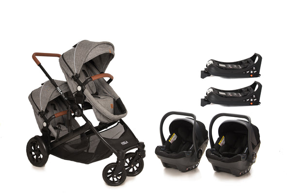 The EliteX2 6in1 Twin Travel System | Lunar Grey 2020 MODEL