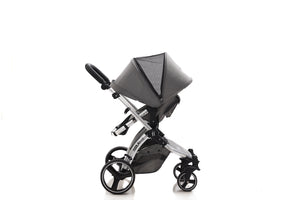 The Bug 4in1 Travel System | Lunar Grey 100% LINEN MATERIAL with ISOFIX BASE