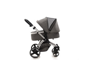 The Bug 5in1 Travel System | Lunar Grey 100% LINEN MATERIAL with ISOFIX BASE & ONE360º