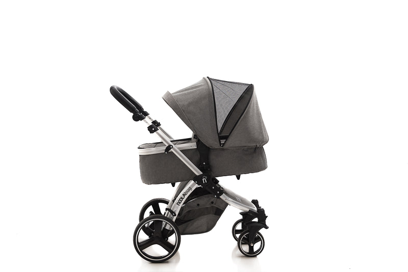 The Bug 3in1 Travel System with iSize | Lunar Grey 100% LINEN MATERIAL 2021 MODEL