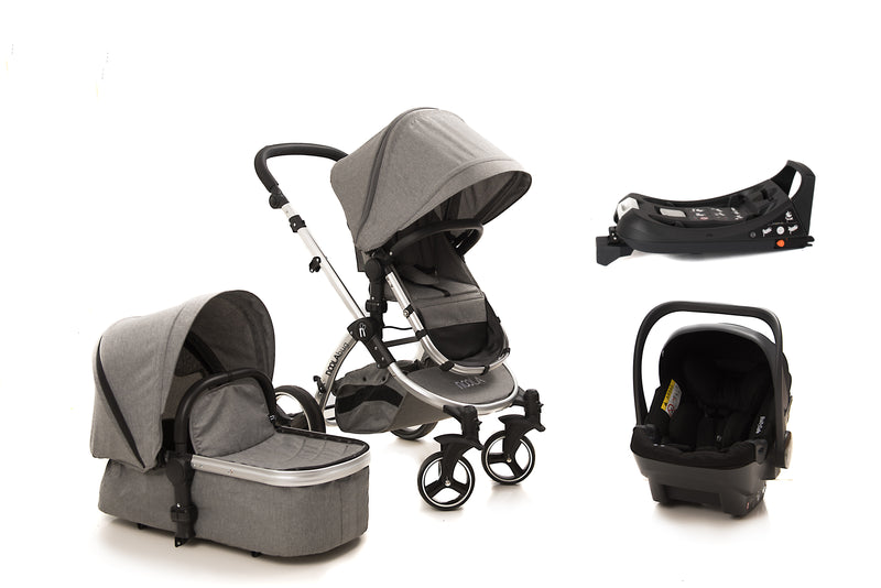 The Bug 5in1 Travel System with ISOFIX BASE & ONE360º | Lunar Grey 100% LINEN MATERIAL 2020 MODEL