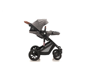 The Elite 4in1 Travel System with NEW iSize Car Seat & ISOFIX | Lunar Grey {PRE-ORDER}