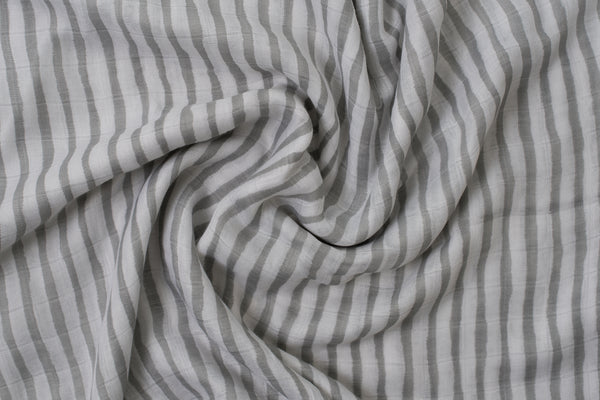 Bamboo Swaddle | Grey Stripe