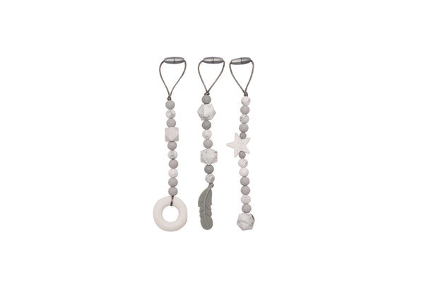 Silicone Teething Beads | GREY Edition by JeléBebé