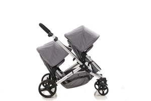 The Duo 6in1 TWIN Travel System with ISOFIX BASE | Lunar Grey