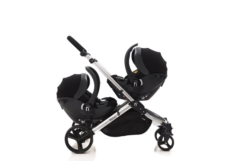 The Duo 6in1 TWIN Travel System with ISOFIX BASE | Midnight Black 2020 MODEL