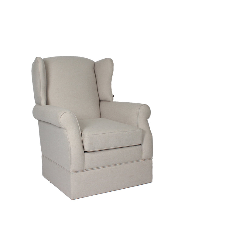 Classic Highback Rocking Chair | French Beige WITH OTTOMAN