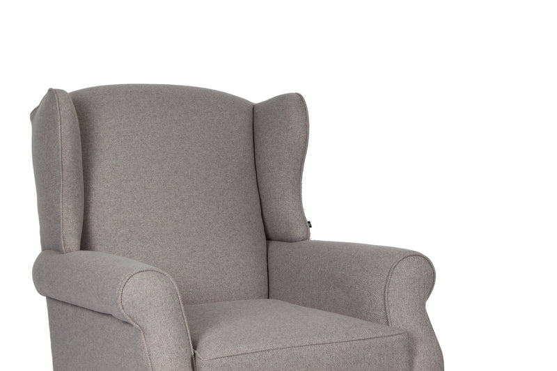 Classic Highback Rocking Chair | Slade Grey WITH OTTOMAN