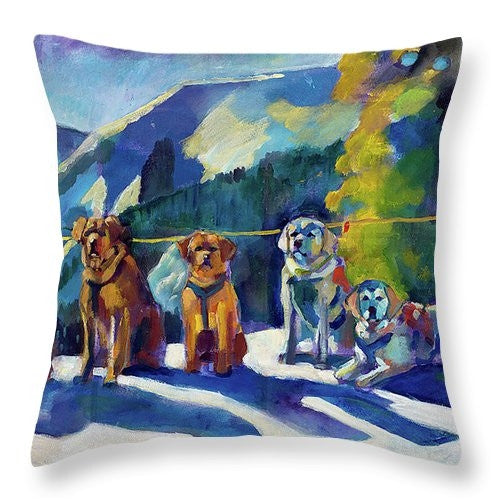 """Mountain Stewards"" Throw Pillow (Full Color)"