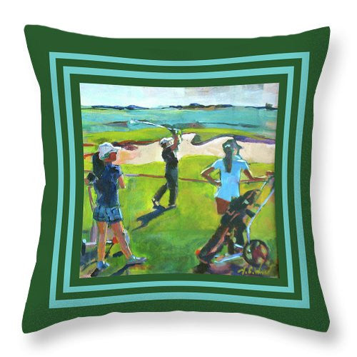 """Fairway Shot"" Throw Pillow"