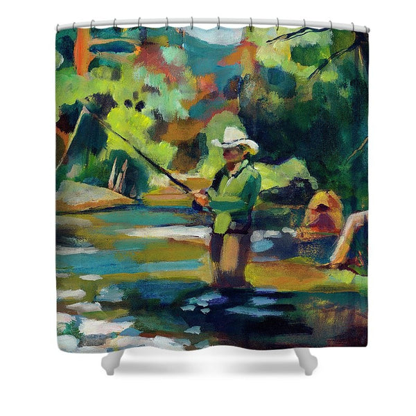 """Summer Pool 1"" Shower Curtain"