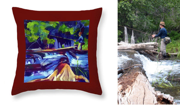 """Summer Falls"" Throw Pillow"