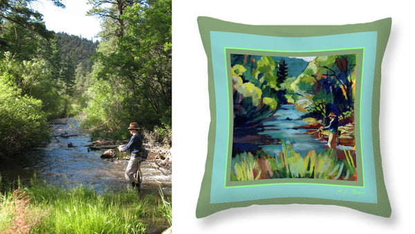 """Summer Pool 2"" Throw Pillow"