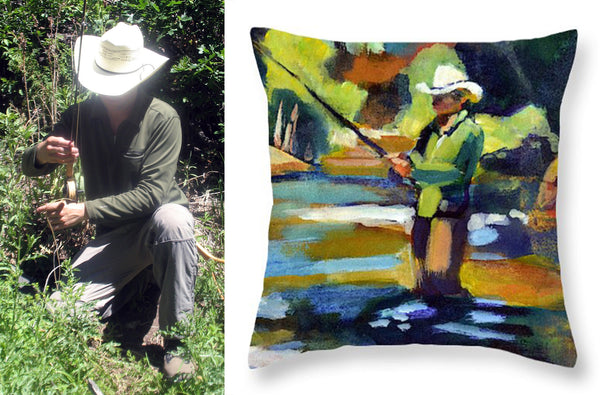 """Summer Pool 1"" Throw Pillow"