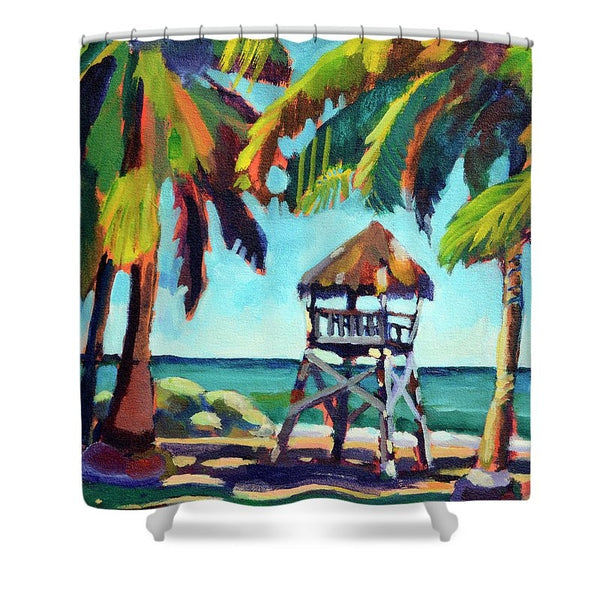 """Shaded Palms"" Shower Curtain"