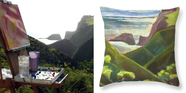 """Maui Coast Throw Pillow"""