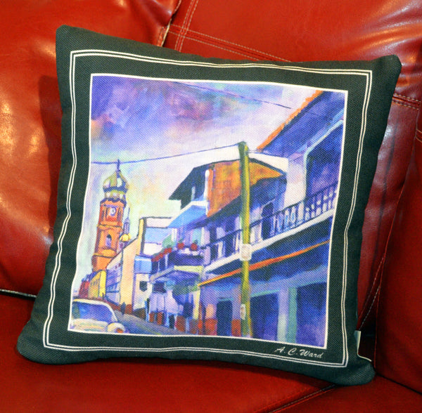 Le Quartier Throw Pillow