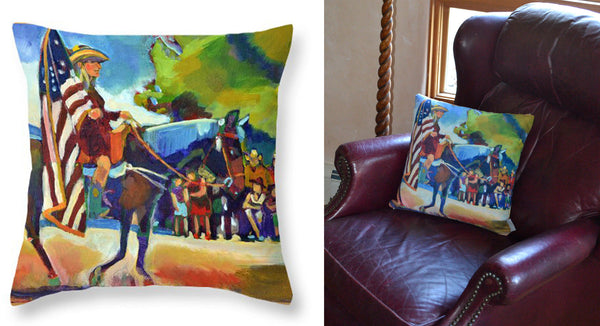 """4th of July Parade"" Pillow"