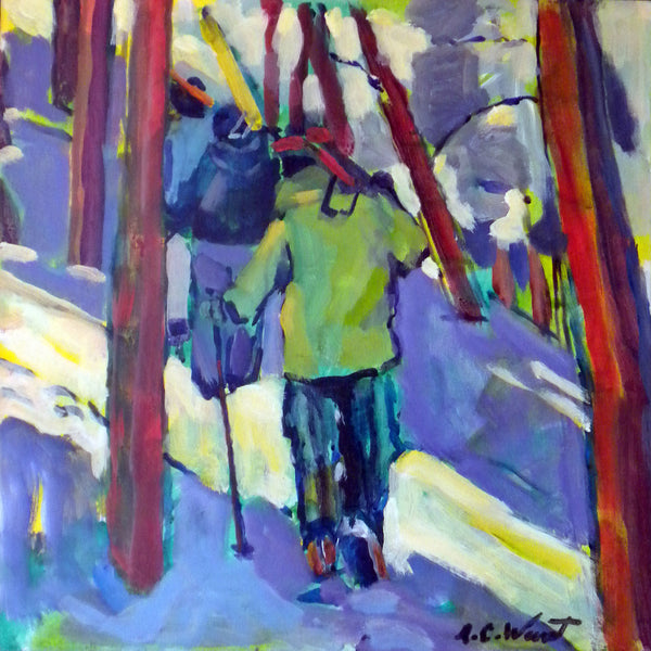 """Hiking the Ridge"" Giclee Print"