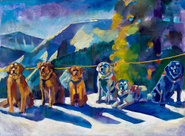 """Avalanche Dogs""  Iconic Original Painting"