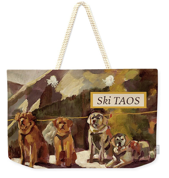 """Avalanche Dogs"" Weekender Tote"
