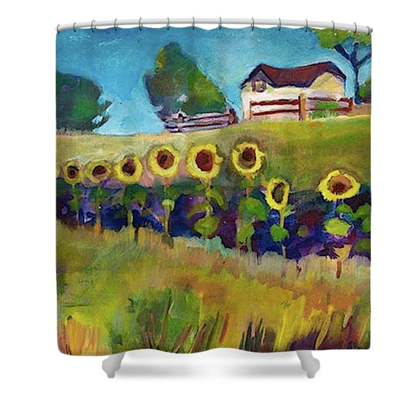 """Fall in Line"" Shower Curtain"