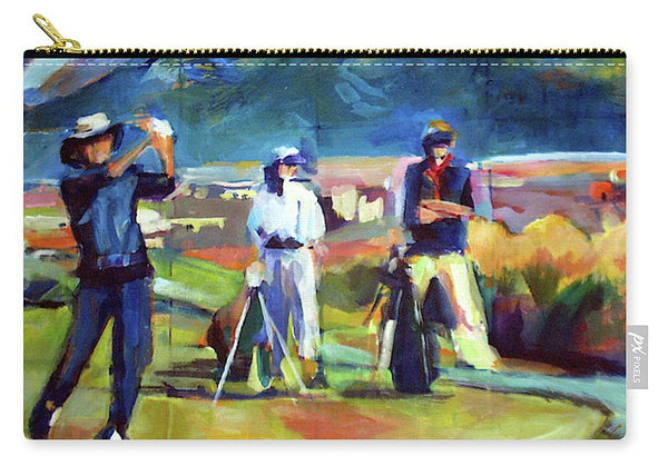 """Driving the Green"" Carryall Pouch"