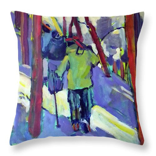 """Hiking the Ridge"" Throw Pillow"