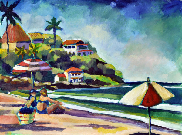 """Beach Afternoon"" Gallery Wrapped Print on Canvas"
