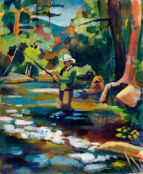 """Summer Pool 1"" Original Painting"