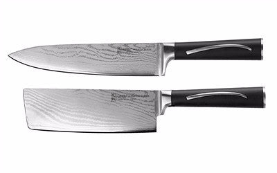 "Damascus Series 8"" Chef & 6"" Cleaver Set"